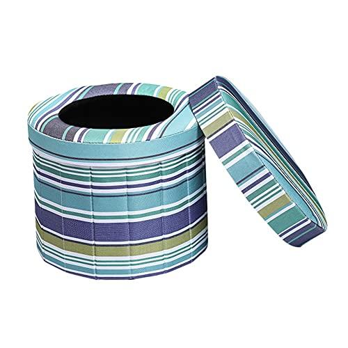 LIZHIOO Voiture de Toilette Pliante Portable Commode de Camping Toilette Toilette Toilettes Toilette Tabouret siège pour Camping randonnée Voyage trafic Camp d'extérieure (Color : Blue)