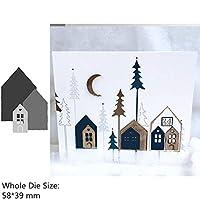 スクラップブッキングやカード作るためのハロウィーンの冬ガールボーイハウスフラワーWordの金属切削ダイス (色 : H4064)
