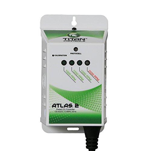 Titan Controls HGC702618 Professional Series Atlas 2-Preset CO2 Monitor/Controller, 120 Volt, White