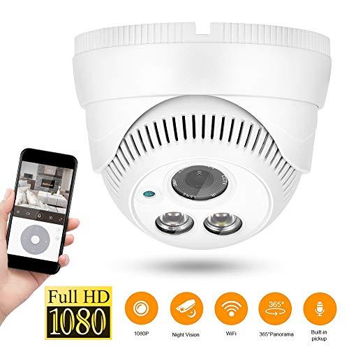 1080P WIFI netwerkcamera, 355 ° horizontale hoek Dual Light filter buitencamera, draadloze WiFi IP Ethernet-camera 15 meter/49.2ft nachtzichtafstand voor thuisbeveiliging/CCTV-camerasysteem