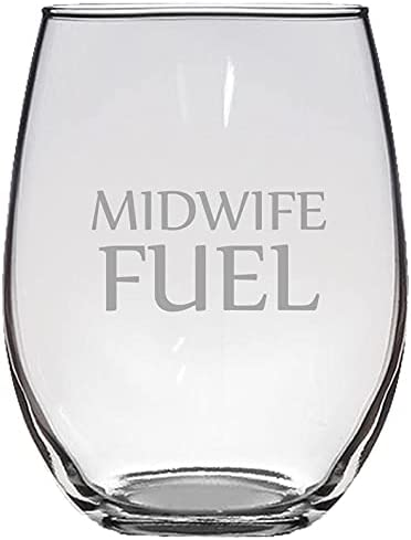 Midwife Stemless Wine Glass - Price reduction Idea Midwifery Funny Midwif 1 year warranty Gift