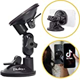 Hula+ Phone Holder/Stand for TikTok/YouTube/Livestream/Make Up. Perfect for Air Travel/Bathroom/Kitchen, Tripod Alternative/Mirror Phone Holder. Works with iPhone & Android Devices