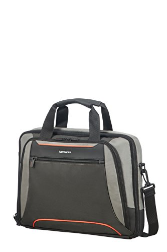 "SAMSONITE Kleur - Bailhandle for 15.6"" Laptop 0.6 KG Bolso Bandolera, 41 cm, 12.5 Liters, Gris (Grey/Anthracite)"