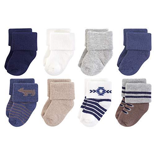 Hudson Baby Unisex Cotton Rich Newborn and Terry Socks, Bear, 0-6 Months US