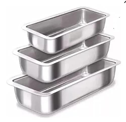 Jogo de 3 Forma Assadeira Pao Caseiro Cuca Bolo Ingles Gelo n 1/2/3 Aluminio