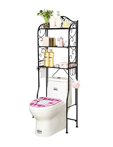 MEILING Toilettenregal, 3-schichtiges Badezimmerregal, Wäscheständer, Toilettenzubehör, WC-Ständer, bodenstehend, Schmiedeeisen Bronze (L55cm × B28cm × H160cm) Platz, wo Dinge im Wohnzimmer platziert