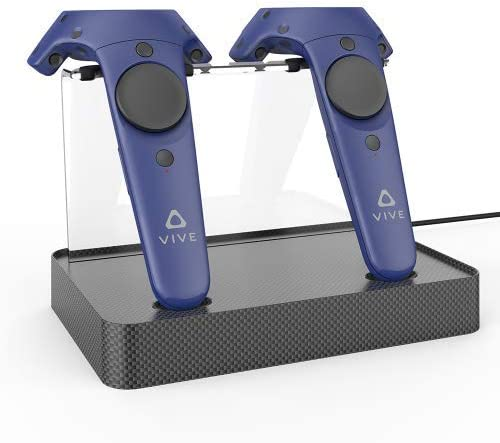 Wireless Charger Charging Stand for Controller of HTC Vive and HTC Vive Pro (Carbon Fiber Model)