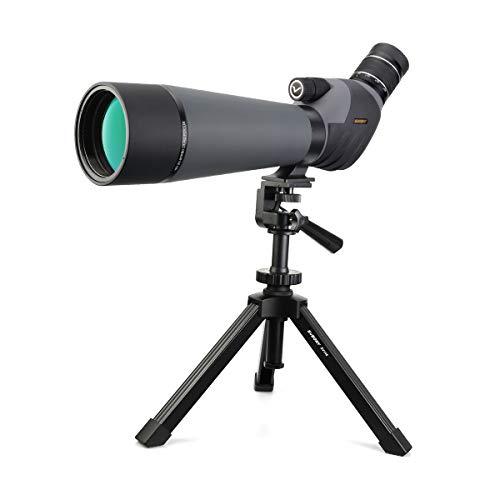 Svbony SV409 Telescopio Terrestre, 20-60x80 Telescopio Terrestre Potente con Trípode, Enfoque Dual HD Impermeable Catalejos para Observación de Aves Tiro con Arco