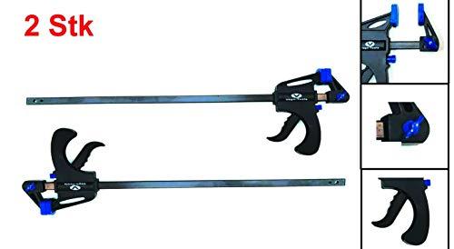 Preisvergleich Produktbild 2x Schnellspannzwinge 600 mm Einhandzwinge Klemmzwinge Schraubzwingen