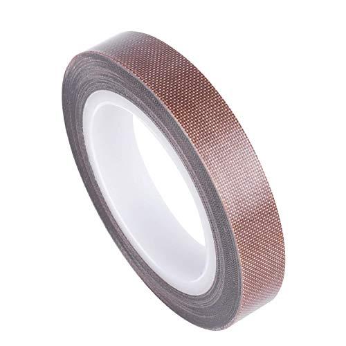 Cinta de tela de PTFE, cinta de teflón para máquina selladora de vacío, selladores de impulso manual aislamiento resistente al desgaste PTFE recubierto de fibra de vidrio cinta adhesiva compat