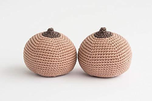 2 pcs set Crochet Organic Breastfeeding Model Demonstration Lactation Supplement