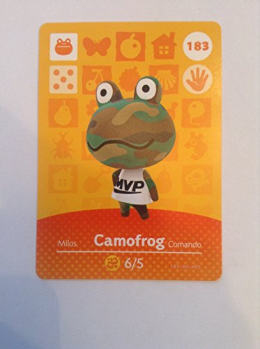 Nintendo Animal Crossing Happy Home Designer Amiibo Card Camofrog 183/200 USA Version