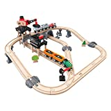 Hape International- Mining Loader Set Circuito de Tren Carga Minera, Multicolor, Talla única (E3756)