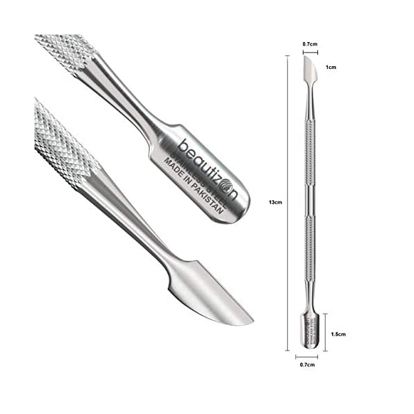 Beauty Shopping Glamove Cuticle Pusher Set – Nail Polish Scraper, Acrylic Remover, Sharp Cutter