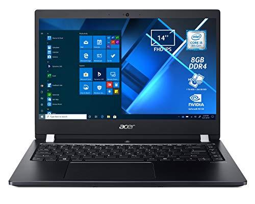 Acer TravelMate X3 TMX3410-MG-5783 Notebook Portatile, Intel Core i5-8250U, Ram 8GB DDR4, 256GB SSD, 1000GB HDD, Display 14' IPS FHD, NVIDIA GeForce MX130 2GB, Pc Portatile, Windows 10 Professional