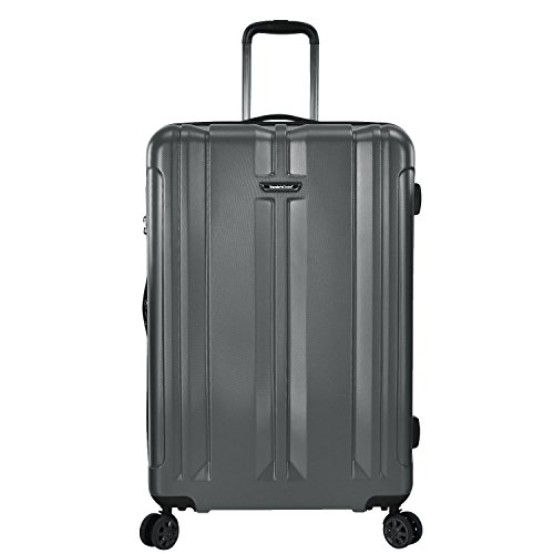 Traveler's Choice La Serena Polycarbonate Hardside Expandable Spinner Luggage, Grey, Checked-Large 30-Inch