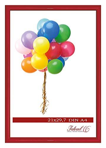 Ideal Trend Home Lifestyle Kunststoff Bilderrahmen 10x15 cm bis 50x70 cm Foto Rahmen: Farbe: Rot | Format: 50x70