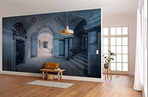 Komar SHX8-153 Vlies Fototapete von Stefan Hefele Lost Places-Villa Größe: 400 x 280 cm (Breite x Höhe) -Tapete, Orte, Gebäude-8 Bahnen-SHX8-153 Photographic Wallpaper, Blue, White, Grey