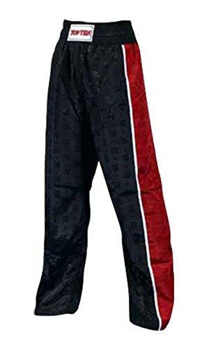 Top Ten Kickboxhosen TopTen Stripes, Schwarz-Rot 170