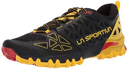 La Men's Bushido II Running Shoe, Black/Yellow, 43.5