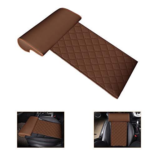 YQJ YOMQLJXB Car seat Extender Cushion Leg Support Pillow?Pillow for car Driver seat?Chair Leg Extenders?Leather Knee Pads Long-Distance Driving car Bus Train Office Home Leg Cushion (Brown)