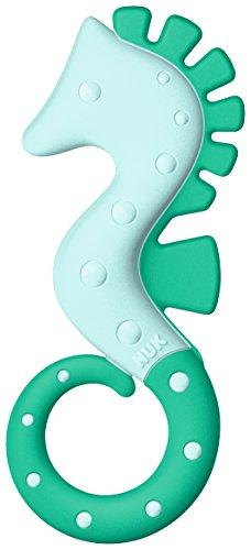 NUK 10256463 All Stages Beißring mit verschiedenen Härtegraden, ab 3 Monaten, 1 Stück, grün