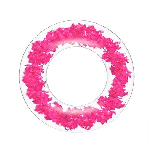 3DWallflexi Anillo de natación Transparente para Adultos, Anillo de natación Inflable de PVC Grueso, flotadores de Piscina Circulares, Anillo de natación-_90CM