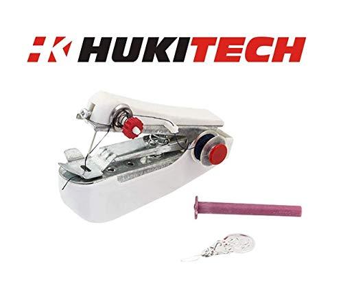 Une - Mini máquina de coser (portátil) + accesorios de costura, máquina de coser manual, para ropa, telas, cortinas, máscara de protección, marca Hukitech.