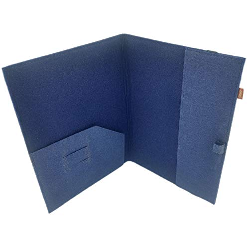 Venetto - Funda organizadora DIN A5 de fieltro para Samsung, iPad, Huawei, eBook Reader como Kobo, Tolino, Kindle A5, color Azul, talla DIN A5 Format / eBook Reader