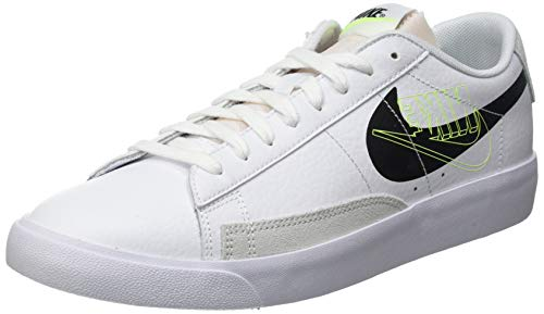 Nike Blazer Low MR, Scarpe da Basket Uomo, White/Black-Volt-Summit White-Sail, 43 EU