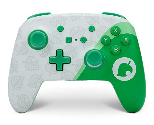 PowerA Enhanced Wireless Controller for Nintendo Switch - Animal Crossing: Nook Inc., Nintendo Switch Lite, Gamepad, Game Controller, Bluetooth Controller, Rechargeable - Nintendo Switch
