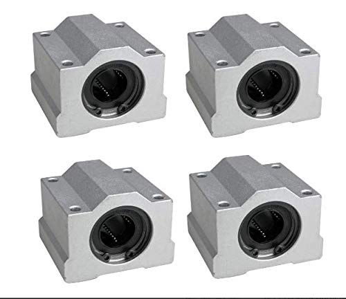 Pack of 4Pcs 16 mm SC16UU SCS16UU Linear Ball Bearing Slider Slide Bushing For Replacement CNC