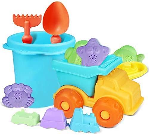 Set von Sandkasten Spielzeugen