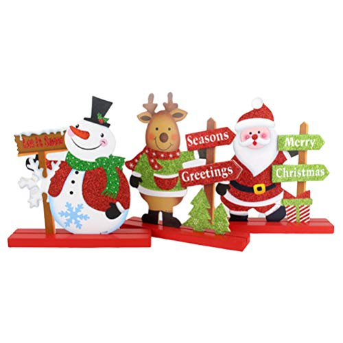 Neivi Christmas Table Decorations for Dinner Party Coffee Table Snowman Santa Reindeer Merry Christmas Believe Happy Holidays