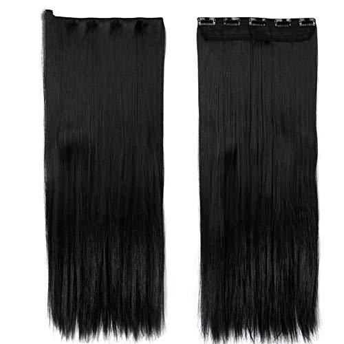 ERLIZHINIAN Perruque de Mode féminine est tombé à la Taille 46-76 CM d'une Seule pièce pièce d'extension de Cheveux du Plus Long Clip d'une pièce épaisse Naturelle Naturelle de Cheveux synthétiques