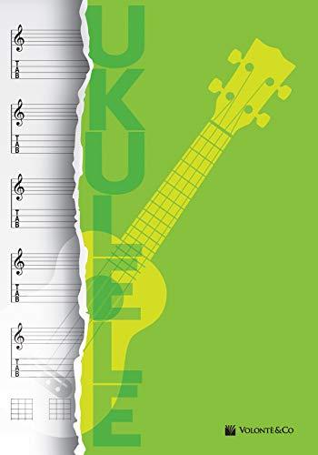 Quaderno di musica ukulele. Quaderno pentagrammato