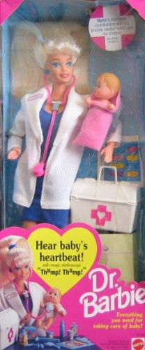 Dr. Barbie Doll - Hear Baby's Heartbeat! w 'Magic' Stethoscope 1993)