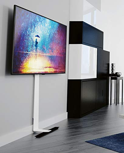 AVF FL601LT Against the wall Standing TV Mount with Tilt for up to 80 inch TVs - Black/White