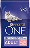 Purina One Adult Cat Food Salmon and WholeGrain, 3kg