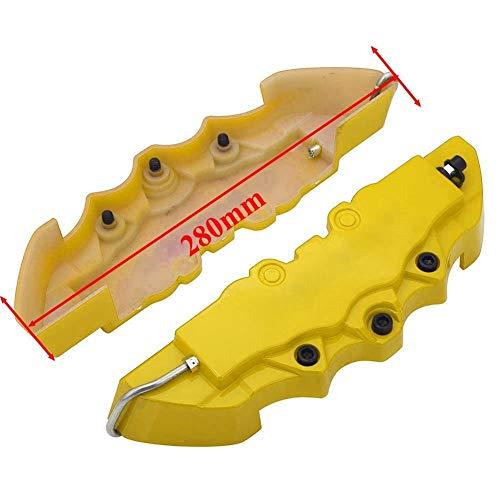 Bremssattel abdeckung Aluminium Bremssattel Staubschutz 190mm 240mm 280mm Universal-Dekoration Auto-Schieber-Abdeckung Ohne Logo Fit for BMW Fit for Honda Fit for Subaru ( Color : Plastic Yellow L )