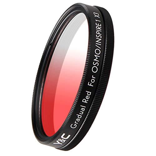 FLAMEER 43mm Gradual Color Filter Farbfilter Graduale Effektfilter für DJI OSMO/Inspire 1 X3 - Rot
