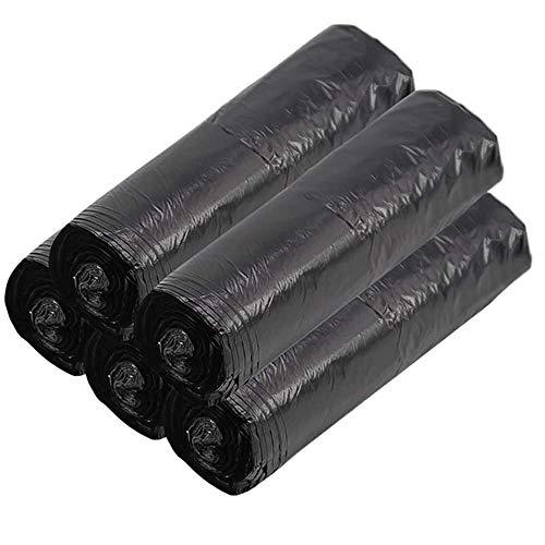 100 bolsas de basura portátiles de color negro, bolsas de basura compostables de 12 l bolsas de basura para la papelera de oficina en el hogar