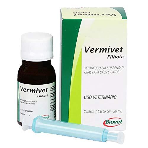 Vermífugo Biovet Vermivet para Cães Filhotes - 20ml