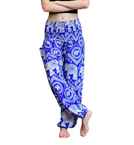 Hippie Boho Yoga Party Festival Elefante Stampa Palazo Pantaloni