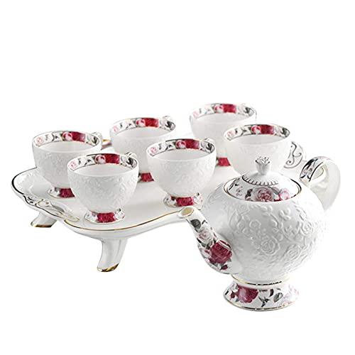 Afternoon Tea Set Service Coffee Sets European Ceramic Coffee Cup Set Tea Pot Porcelain Tea Cups Set With Tea Tray Best Gift
