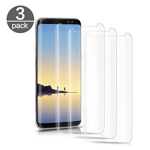 Verre Trempé Samsung Galaxy S8 Plus S8+ [Lot de 3], Film Protection Ecran Vitre pour Samsung Galaxy S8 Plus S8+ [Dureté 9H] [Haut Définition Entièrement Transparent] Anti Rayure sans Bulles d'air