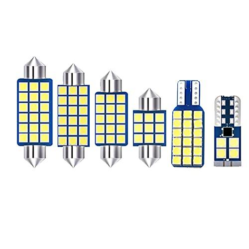 JTSGHRZ Luz Interior del Coche 4 Uds Bombillas LED Kit de luz Interior de Coche cúpula luz de Lectura lámparas de Maletero, para Nissan Bluebird Sylphy Almera G11 2005-2011