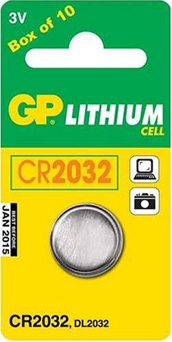 GP CR2032 Piles Bouton Boîte de 10