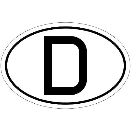 Greenit Aufkleber Sticker Länderkennzeichen D Deutschland Auto Pkw Bus Lkw Anhänger Zeichen Symbol 1 Auto