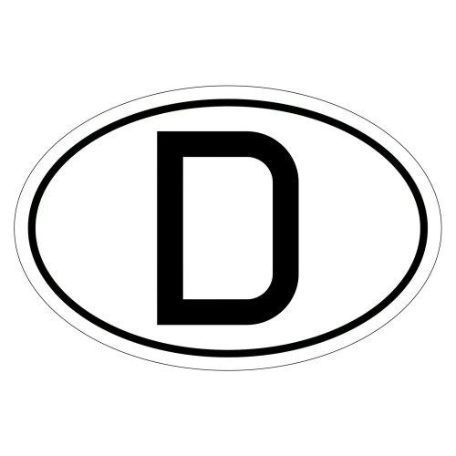 Kiwistar Deutschland D 15 x 10 cm Autoaufkleber Sticker Aufkleber KFZ Flagge
